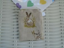 CUTE HARE OR RABBIT PURSE COIN WALLET HAND MADE LINED GIFT PURSES UNIQUE NEW