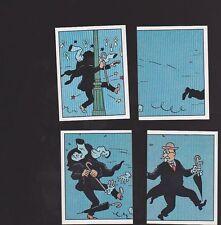 Herge Tintin Panini 1989 autocollants 167 168 169 170