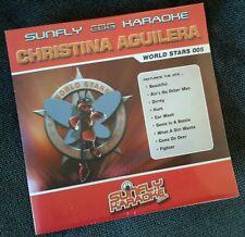 Karaoke cdg disc, SFWS005 Sunfly World Stars Christina Aguilera,Descript,15 trks