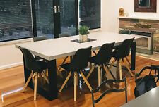Concrete Dining Table - Steel legs - Made to order
