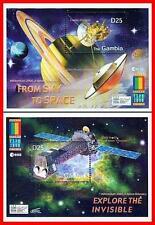 GAMBIA = EXPO 2000  SPACE & ASTRONOMY (SATURN), TELESCOPE x2 S/S (blocks)