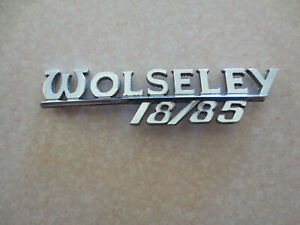 Original Wolseley 18/85 car badge / emblem -- ---