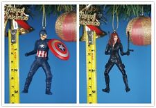 CHRISTBAUMSCHMUCK Deko Ornament Dekor Avengers Captain America vs Black Widow BE