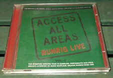 Access All Areas - Runrig Live Vol. 1 - 2001 Ridge Records Fanclub Cd Album