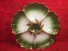 Oyster Plate Christmas Antique Limoges Porcelain Oyster Plate c.1892-1907, op393