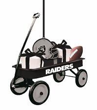 NFL Oakland Raiders Team Wagon Ornament, NEW