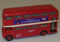 Welly Diecast Fiction Model  9930 Red Here's London Double Decker Tour Bus.