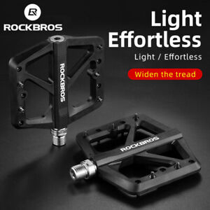 ROCKBROS Bicycle Nylon Pedals Mountain Bike Du Bearing Lock Widen Area Pedal