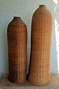 Vintage Fish Eel Trap Basket Floor Vase Boho Decor Hard to Find - Price for One