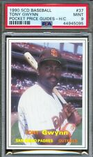 1990 SCD Price Guides Insert #37 TONY GWYNN San Diego Padres PSA 9 MINT Pop 1