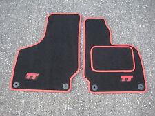 Audi TT ROADSTER Mk1 (1999-2006) Car Mats in Black/Red with TT Logos (Red)