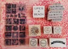 HUGE Lot of 47 Stamps - 23 Unmounted & 14 Wood Mounted Rubber Stamps Special Occ