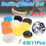 10x Sponge Polishing Buffer Pads Mops Kit Set & Drill Adapter For Car