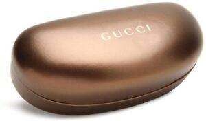 Gucci Authentic Sunglasses Eyeglasses Hard Gold Case w/Cloth New