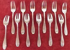 12 fourchettes gateau dessert métal argenté art déco dessert forks