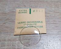 Verre de montre suisse bombé plexi diamètre 343 Watch crystal vintage *NOS*