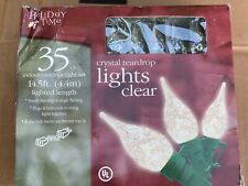 Holiday Time Crystal Teardrop Christmas Lights