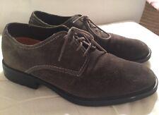 Hush Puppies Men's Charcoal Gray Suede Authentic Tie Shoes Size 11 M