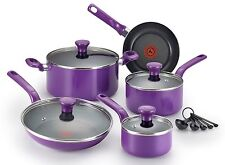 14-Piece Purple T-fal Cookware Set Dutch Oven Saucepan Frypan Pots and Pans NEW
