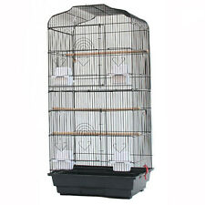 More details for large metal bird cage canary parakeet budgie cockatiel lovebird tall cages black