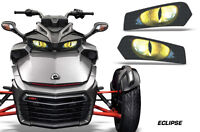 Headlight Eye Graphics Kit Decal Cover For Can-Am Spyder F3 Roadster ECLIPSE Y