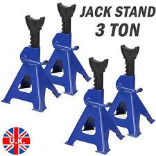 3t Axle Stands Lifting Capacity Stand Heavy Duty Car Caravan Floor Jack Blue 2x