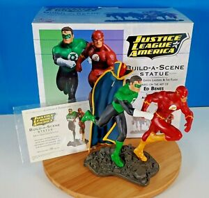 Justice League of America Part 3 Green Lantern & The Flash Build a Scene Statue