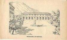 Stampa antica NOCERA UMBRA Stabilimento Termale Perugia Umbria 1885 Old print