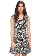 NWT $398 Nanette Lepore Librarian Dress 4 Ivory Multi