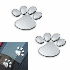3D Car Window Bumper Body Decal Sticker Bear Cat Dog Paw Foot Print Decor Pair