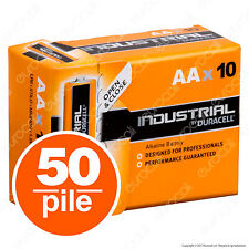 50 Batterie Duracell Industrial Procell Pile Alcaline Stilo AA