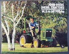 Original 1984 John Deere 14.5 to 60 PTO HP Diesel Tractors Dealer Sales Brochure