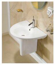 "Bathroom Pedestal Sink - Single Pedestal Sink - Modern Sink - Adelia - 21.3"""