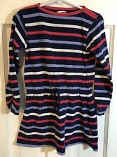 Name It Kids Girls Navy Blue, Pink and White Girls Dress Size 4-5 Y 104-110
