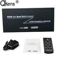 1080P 4x1 Quad Multi-viewer PIP Picture Splitter Seamless Switch HDMI Switcher