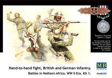 Hand-to-hand fight, British & German  Infantry, WWII   1/35 Master Box # 3592