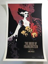 Mike Mignola Signed Mondo Bride of Frankenstein Print Movie Poster Hellboy Ansin