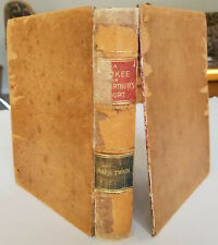 1889.MARK TWAIN Connecticut Yankee in King Arthur's Court 1st Ed 2nd Issue SHEEP