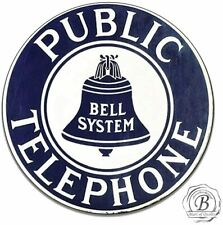 Public Telephone Bell Systems Vintage Telephone Sign Rotary Phone Emblem