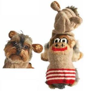 Monkey Hoodie Dog Sweater Chilly Dog Hand Knit Wool  XXS-XXXL Pet Puppy Warm Pet