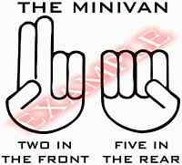 Vinyl Decal Minivan Two in the Front Five Rear Sexual Funny Sticker Window Glass