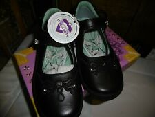 NEW Girls Startrite Black Leather Princess Serena Shoes Size 9 1/2G