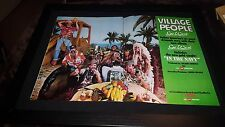 Village People Go West In The Navy Rare Original Promo Poster Ad Framed!