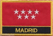Spain Madrid Flag Embroidered Patch Badge - Sew or Iron on