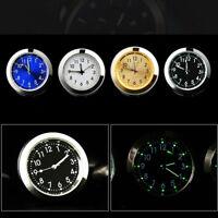 Luminous Car Watch Quartz Analog Digital Stick-On Clock Thermometer DIY Decor