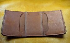 Brown Bison BUFFALO LEATHER TriFold Wallet handcrafted disabled Navy vet 5042