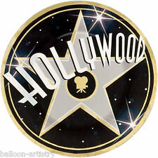 8 Hollywood Sign Movies Oscars Star Party Large 26.7cm Disposable Paper Plates