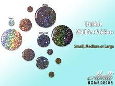 NEW! Glitter BUBBLES, Colour Changing Glitter Wall Stickers, Abelli Home Decor