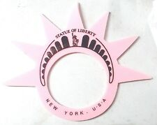 3 x Statue of Liberty Foam Crowns New York Souvenirs Pink
