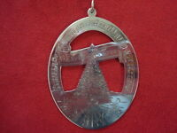 """1978 Lunt Sterling Silver Music of Christmas Ornament """"Oh Tannebaum"""""""